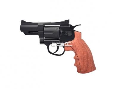 FS 華山 1002 2.5吋 4.5mm CO2全金屬左輪手槍 仿木柄黑色