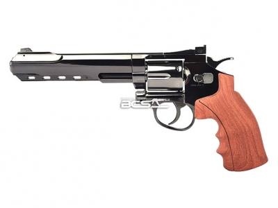 FS華山 1002 6吋 4.5mm 喇叭彈 CO2全金屬左輪手槍 仿木柄古銅色