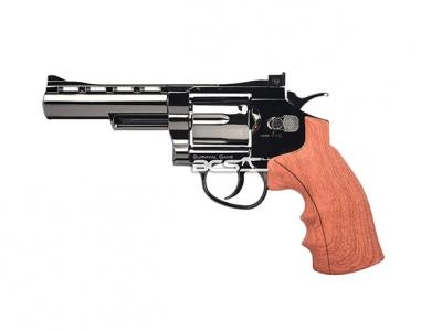 FS華山 1002 4吋 4.5mm 喇叭彈 CO2全金屬仿木柄左輪手槍 古銅色