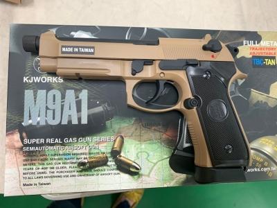 2019 KJ 最新 M9A1 可加裝逆14牙滅音管 沙色牙版 CO2短槍