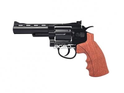 FS華山 1002 4吋 4.5mm 喇叭彈 CO2全金屬左輪手槍 仿木柄黑色